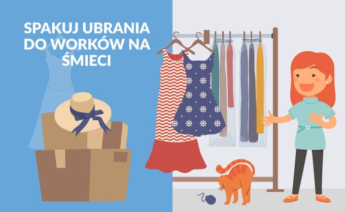 Jak spakować ubrania? Do worków na śmieci!