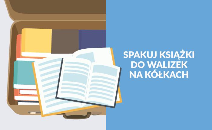 Jak przewozić książki? Użyj walizki na kółkach!
